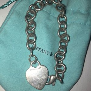 Tiffany And Co. Heart Tag Silver Charm Bracelet